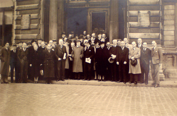 Leden van het Genootschap voor Teylers Museum, 1947.