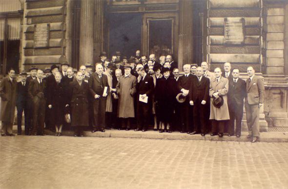 Leden van het Genootschap voor Teylers Museum, 1947.